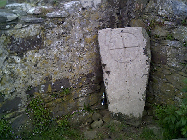 Carved Stone in the old St. Nons Chapel