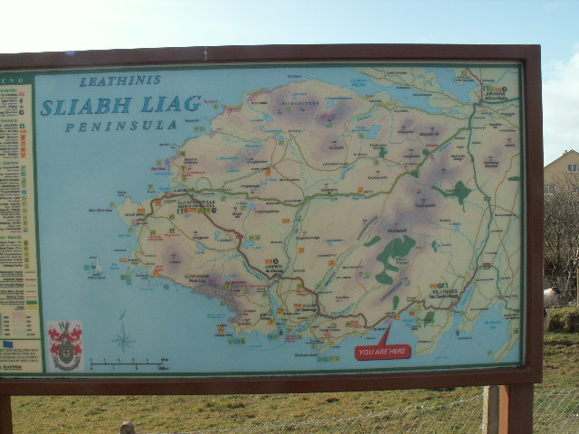 Map in Largy, Sliabh Liag Peninsula, Co. Donegal
