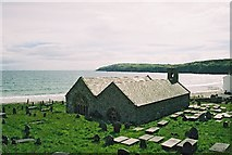 SH1726 : Aberdaron church by mike keel