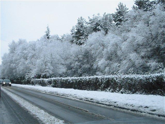 Snow on the A332