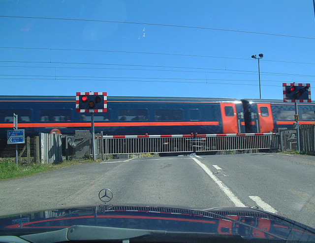 Train on the Level Crossing at Beal