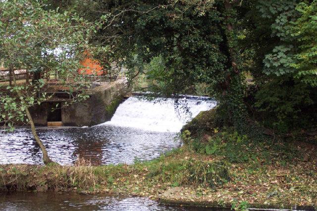 Weir above Weycroft Mill