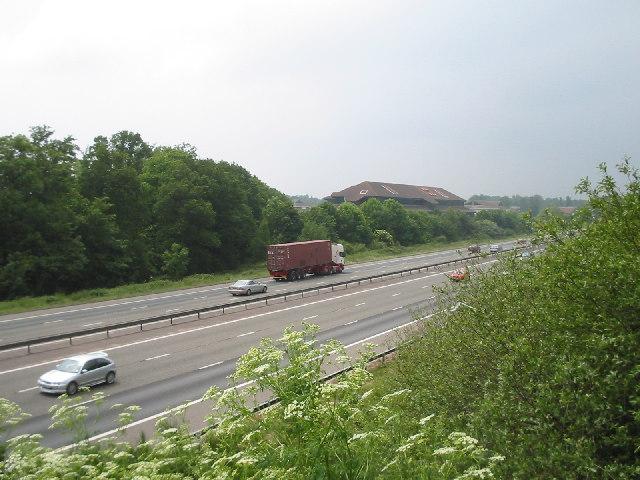 M3 Motorway and Ancells Business Park, Fleet
