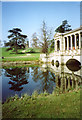 SP6837 : Palladian Bridge, Stowe Landscape Gardens by Chris Coleman