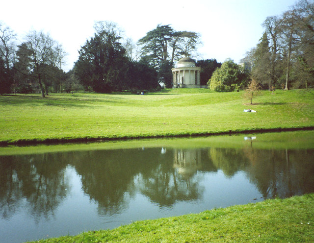Stowe Landscape Gardens, Temple of Virtue across R. Styx