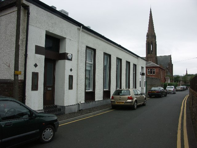 Largs - Picture House and Clark Memorial Church by J M Briscoe