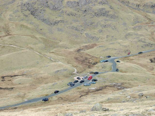 Three Shire Stone, Wrynose Pass