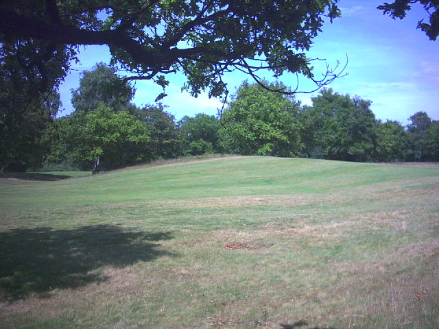 West end of Caesar's Camp, Wimbledon Common.