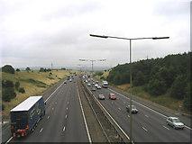 TQ5885 : M25 Motorway, North Ockendon, Essex by John Winfield