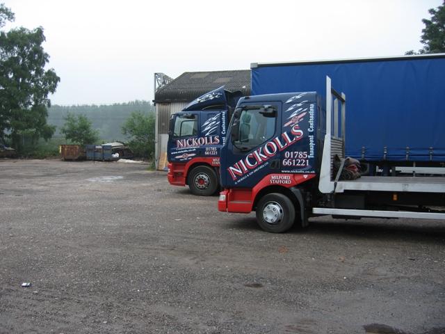 Two Trucks in the yard