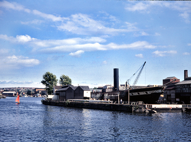 Bristol Floating Harbour with SS Great Britain 1975