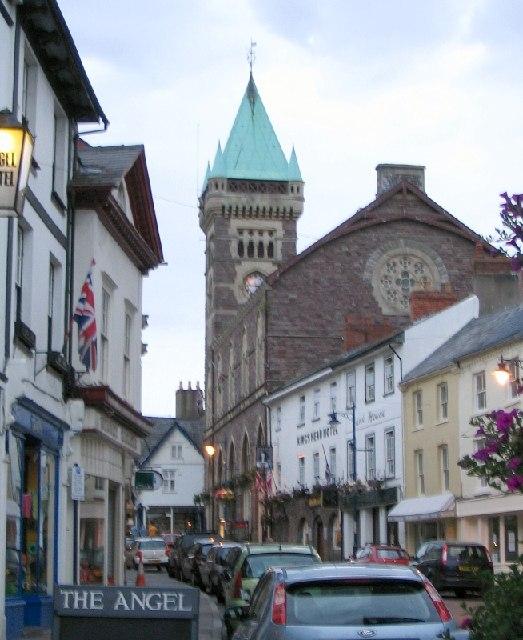 Market Hall clock tower, Abergavenny
