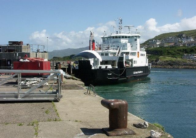 Armadale-Mallaig ferry arriving at Mallaig