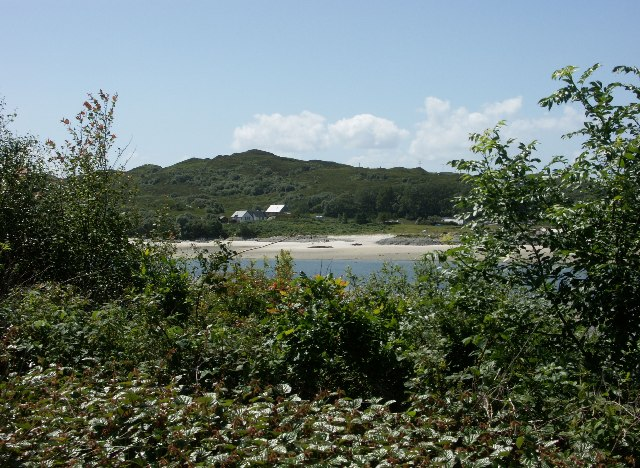 River Morar from side of A830