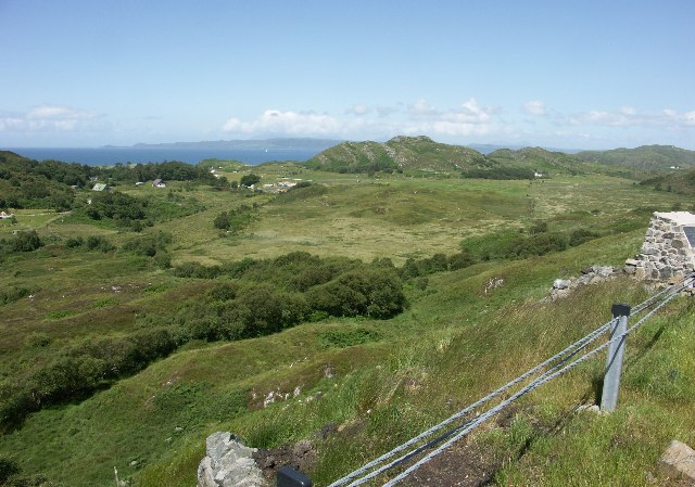 View from side of A830 between Morar and Arisaig