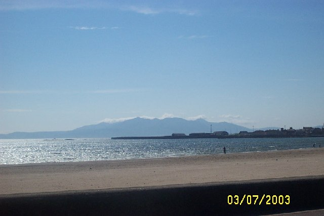 View of Arran from South Beach Ardrossan