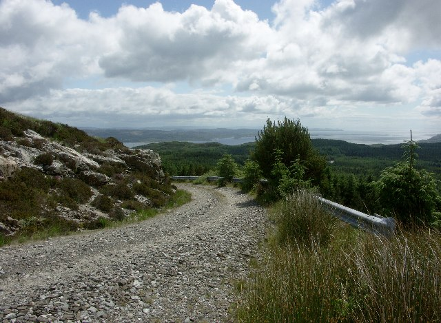Track down from Meall Mhor