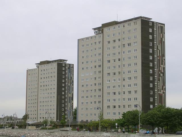 Two prominent tower blocks, Gosport