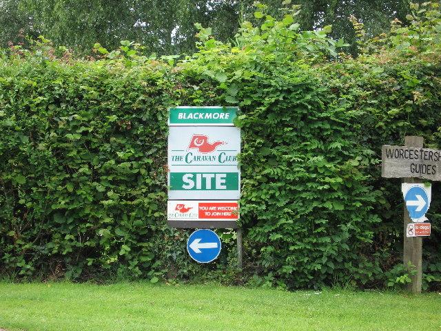Blackmore Caravan Club Site in Malvern