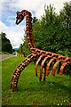 NN5229 : Roadside sculpture at Ardchyle by Toby Speight