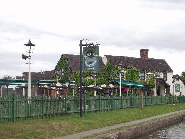 The Black Boy Pub on the Grand Union Canal