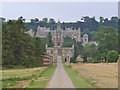 SK8932 : Harlaxton Manor, near Grantham by Kate Jewell