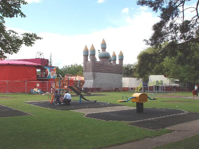 Barham Park, Wembley - playground and funfair