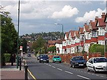 TQ1885 : Park Lane Wembley, Barn Hill behind by David Hawgood
