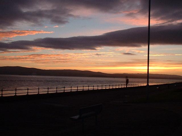 Sunrise on Greenock Esplanade