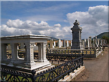 SC2583 : Peel cemetery by John Radcliffe