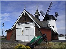 SD3727 : Lifeboat Station and Windmill by Roger May