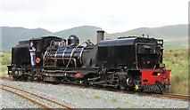 SH5752 : WHR loco at Rhyd-Ddu station by John Radcliffe