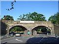 TQ1566 : Thames Ditton Railway bridges by steve