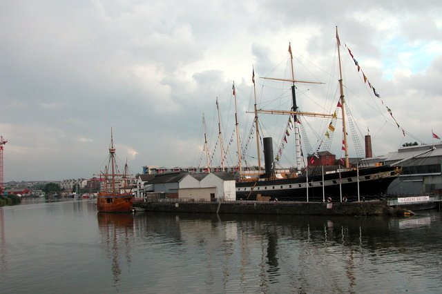 SS Great Britain and The Matthew.