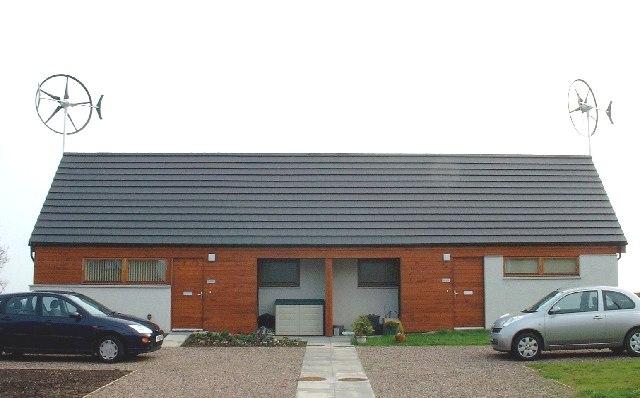 Domestic wind generation built by Berwickshire Housing Association