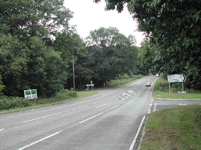 Junction of A614 and Salterford Lane