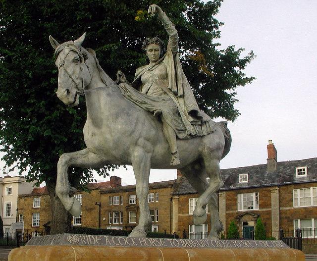 Statue of the Fine lady. Near Banbury Cross