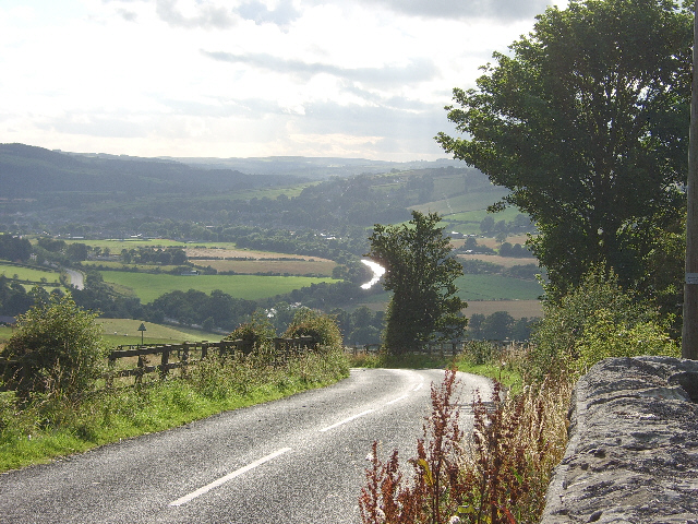 Looking west up the Tyne Valley