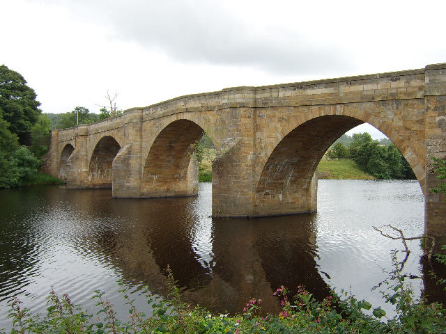 The bridge over the North Tyne at Chollerford