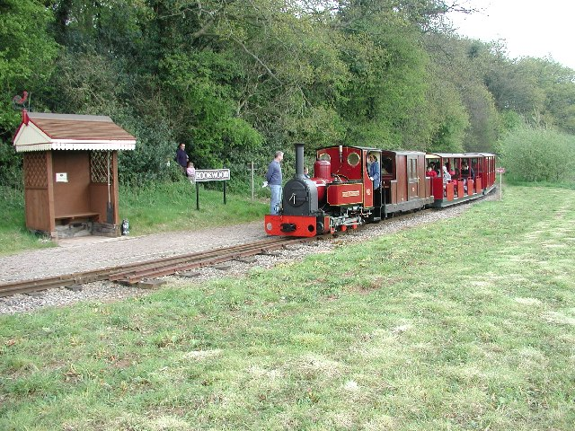 Steam train on Perrygrove Railway