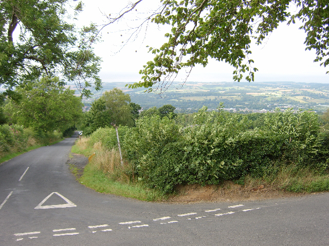 Looking down Causey Hill into the Tyne Valley