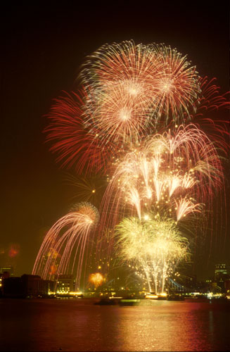 Thames Firework Display VJ-Day 50 Years