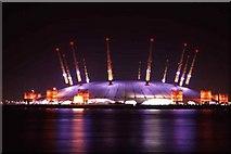 TQ3980 : Millennium Dome at Night by Christine Matthews