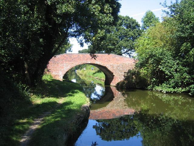 Turnover Bridge, Grand Union Canal, Chessetts Wood