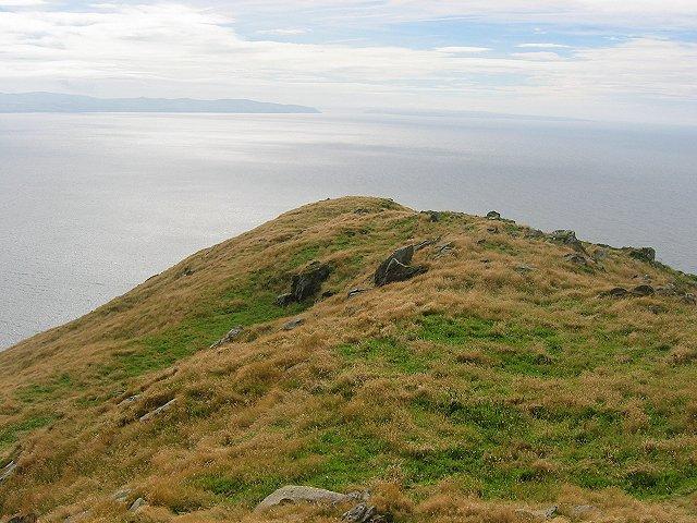 Summit ridge, Ailsa Craig