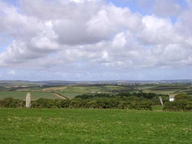 """The Pipers"" standing stones near Boleigh Farm"