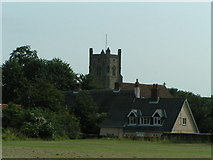 TM4160 : St Mary Magdalene & Cottage, Friston, Suffolk by Barry Hughes