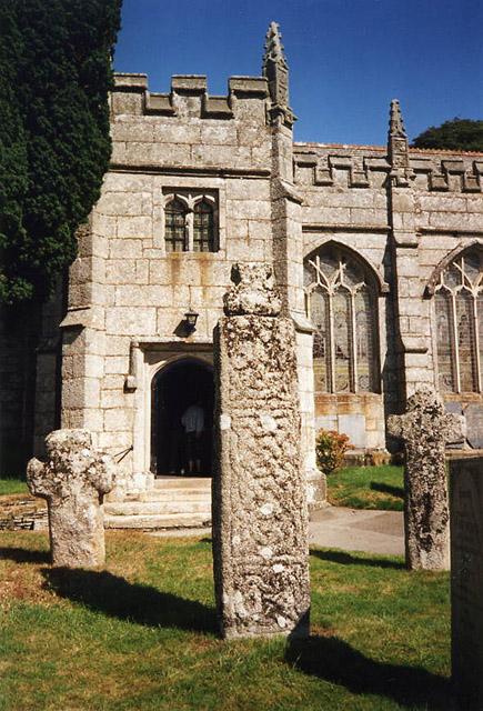 St Neot: crosses in churchyard
