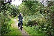 SW8243 : Cycling near Newham by Ron Strutt