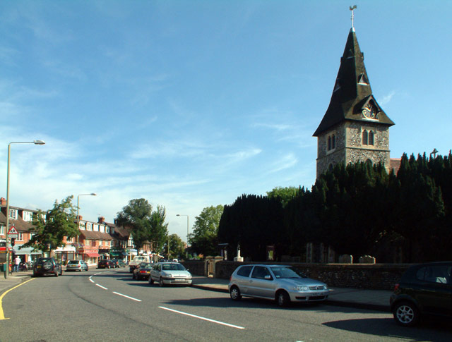 Hayes Street BR2 with the parish church